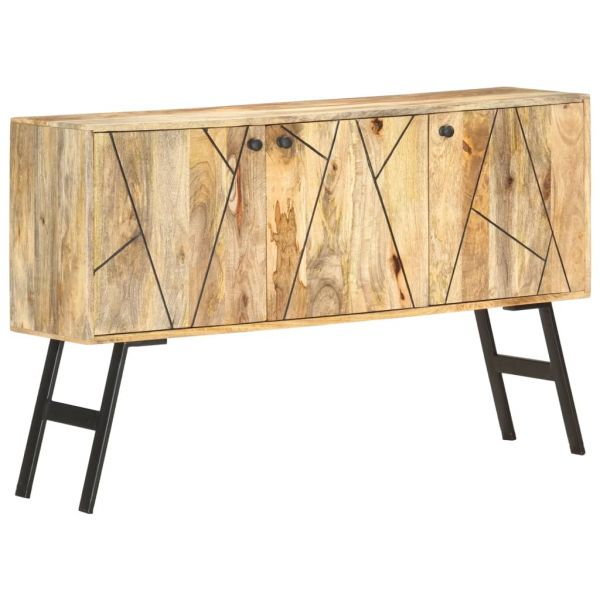 grandiose Sideboard 118 x 30 x 75 cm Massivholz Mango Castlereagh