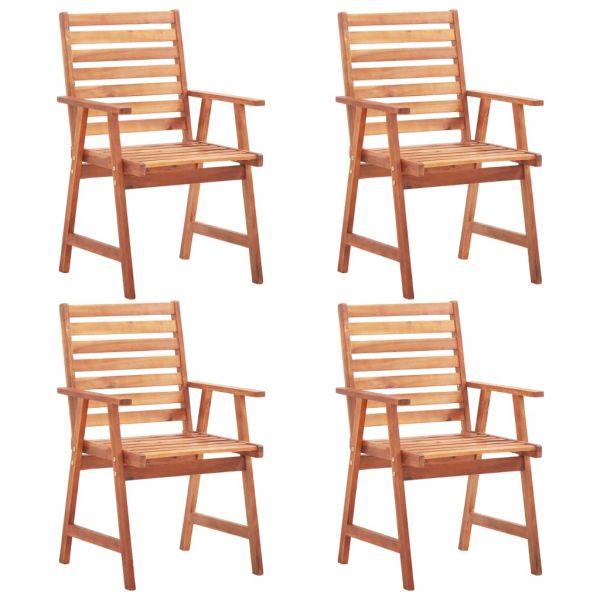 Gartenstühle 4 Stk. Massivholz Akazie 'Adam'