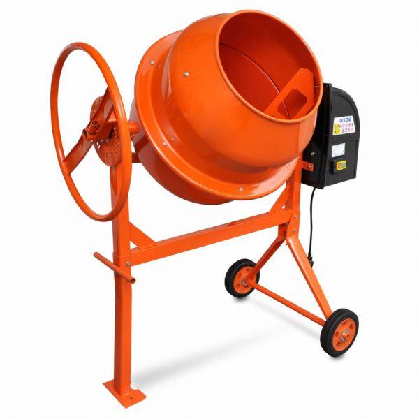 Betonmischer Zementmischmaschine 140 L 650 W Stahl