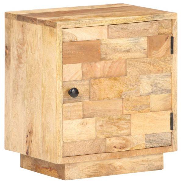 Schöne Nachttisch 40x30x45 cm Massivholz Mango Leknes
