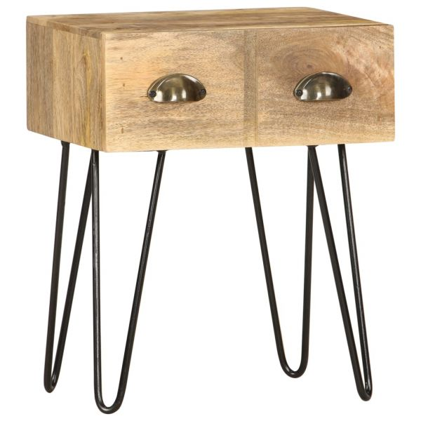 klassische Nachttisch 40 x 30 x 50 cm Mango Massivholz Kopervik