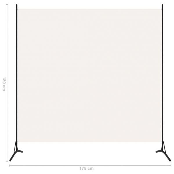 Schöne Lucera 1-tlg. Raumteiler Weiß 175x180 cm