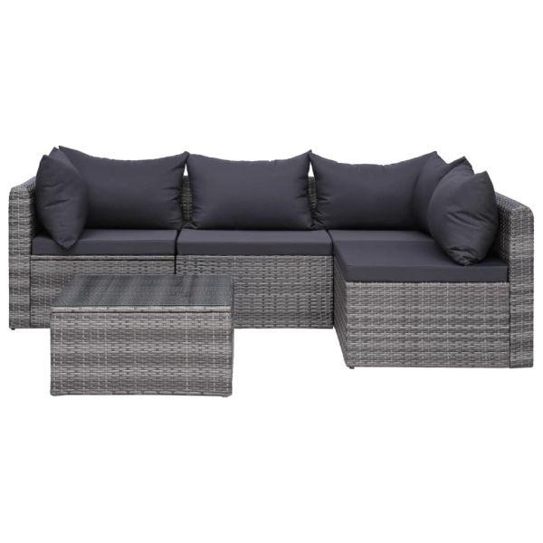 Garten-Sofagarnitur mit Polstern & Kissen Lounge