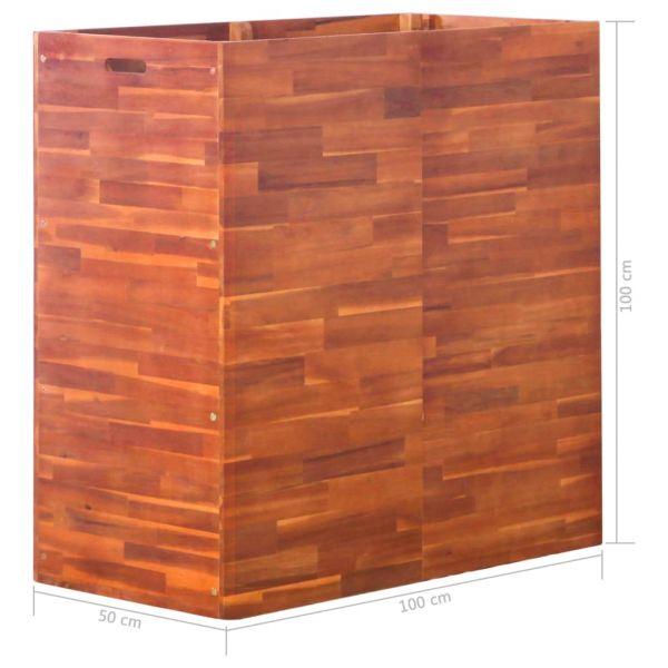 Spitze Garten-Hochbeet Akazienholz 100x50x100 cm Queanbeyan