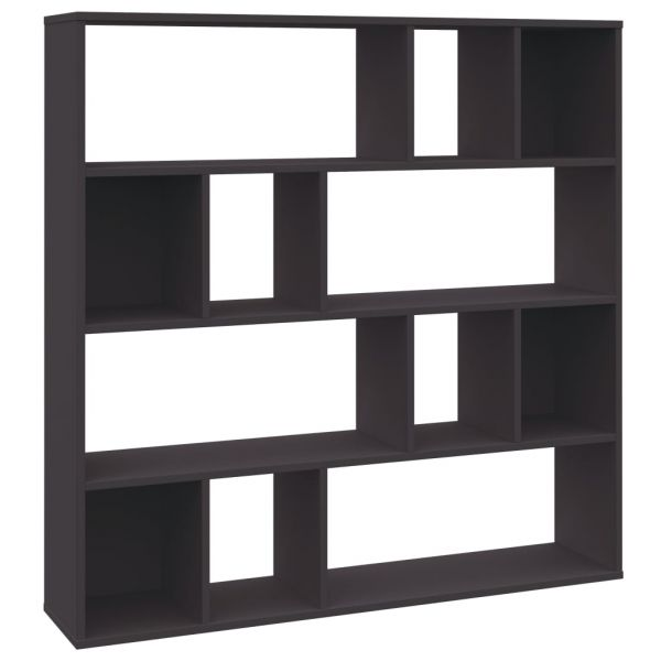 Raumteiler/Bücherregal Grau 110 x 24 x 110 cm Spanplatte