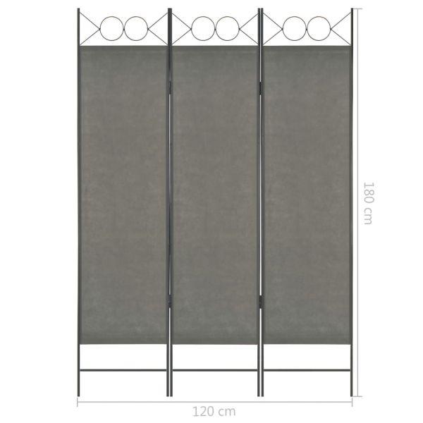 Ausgezeichnete Matera 3-tlg. Raumteiler Anthrazit 120 x 180 cm