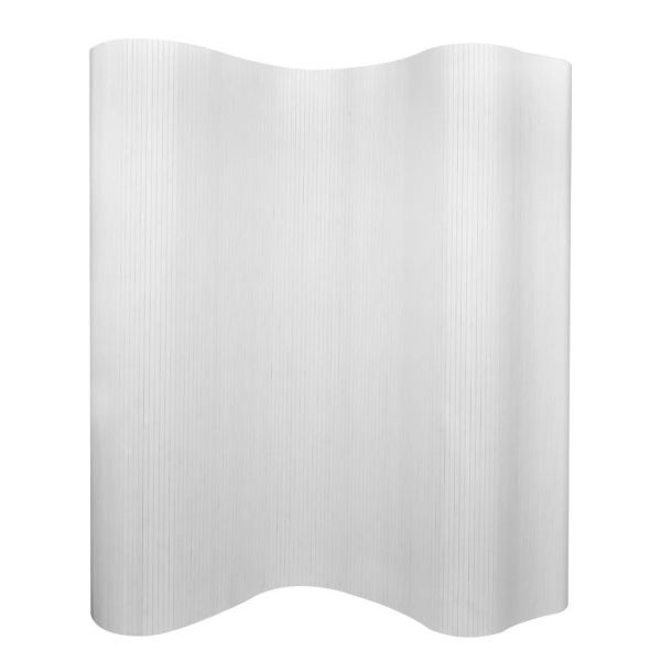 Dekorative Messina Raumteiler Bambus Weiß 250 x 165 cm