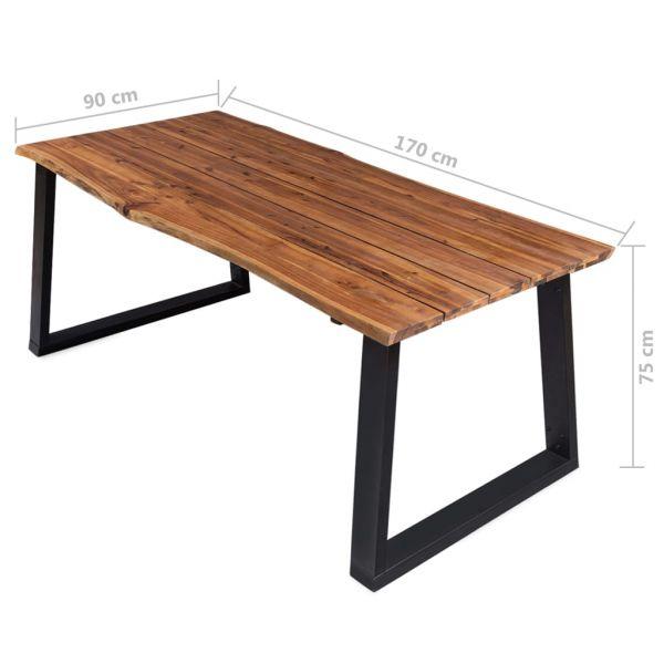 Schöne Esstisch 170x90x75 cm Massivholz Akazie Rankweil