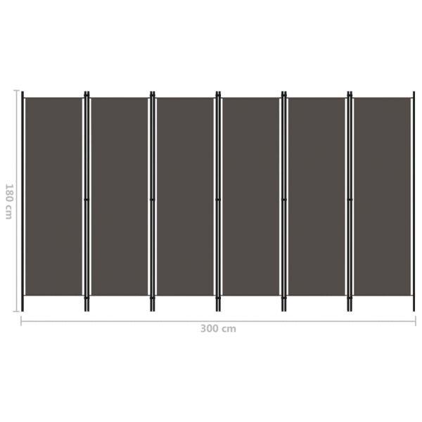 Trendige San Dona di Piave 6-tlg. Raumteiler Anthrazit 300x180 cm