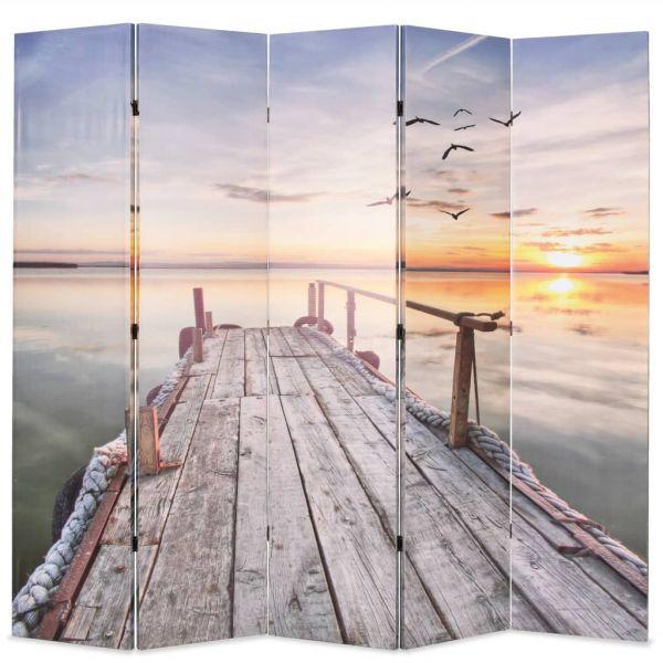 Ausgezeichnete Ferrara Raumteiler klappbar 200 x 170 cm See mit Steg