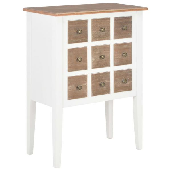 ausgezeichnete Sideboard Weiß 54 x 30 x 80 cm Massivholz Mango Bridgend