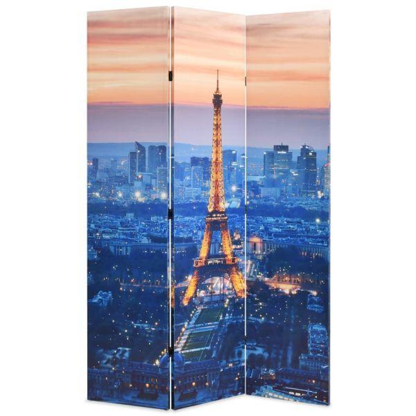 Schöne Monza Raumteiler klappbar 120 x 170 cm Paris bei Nacht