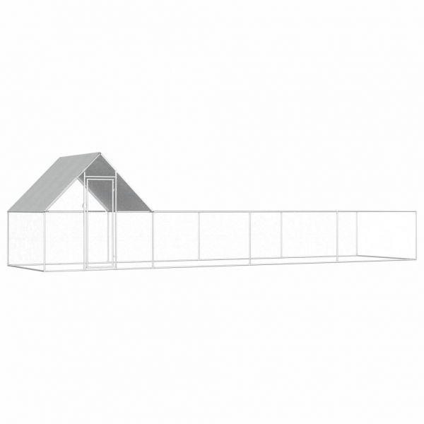 Solider Hühnerstall 8 x 2 x 2 m Verzinkter Stahl Suceava