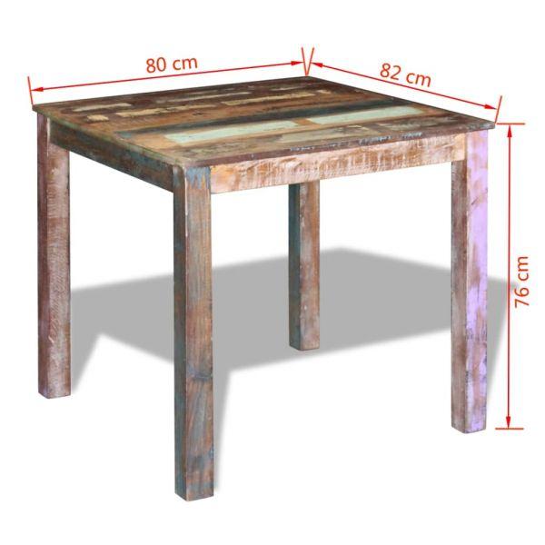 klassische Esstisch Recyceltes Massivholz 80x82x76 cm Knittelfeld