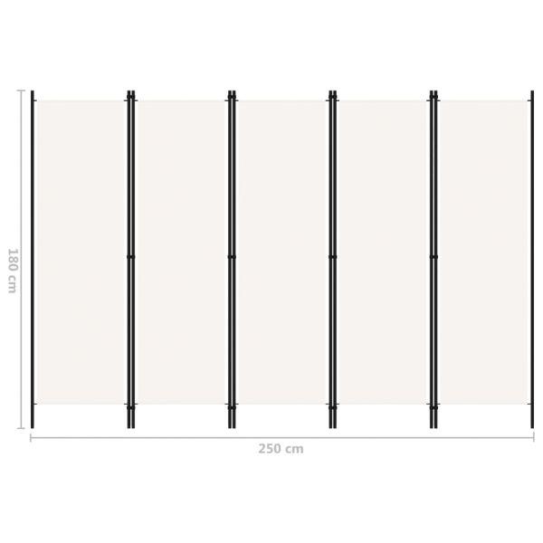Ausgezeichnete Grugliasco 5-tlg. Raumteiler Weiß 250x180 cm