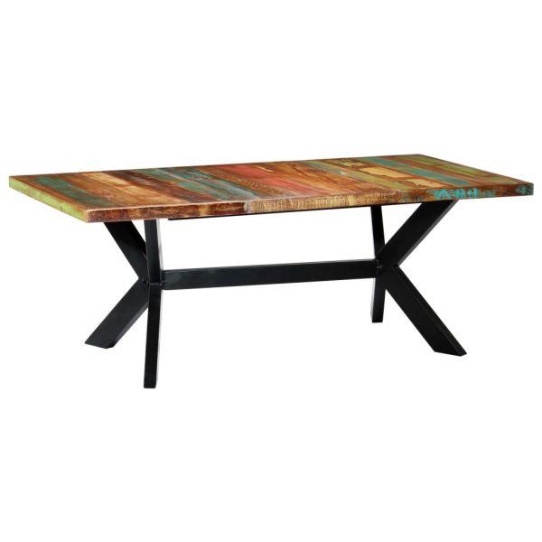 ausgezeichnete Esstisch 200 x 100 x 75 cm Recyceltes Massivholz Attnang-Puchheim