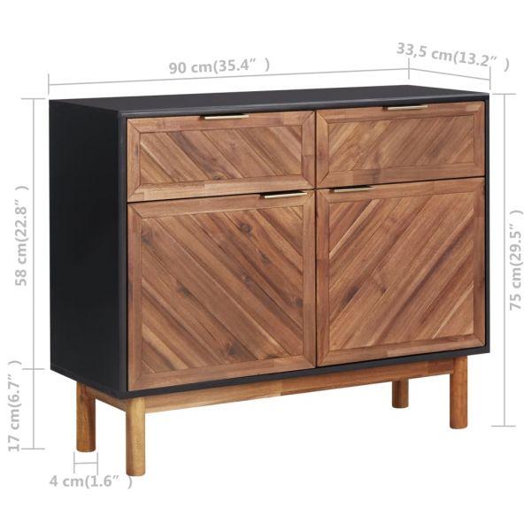 ausgezeichnete Sideboard 90x33,5x75 cm Massivholz Akazie und MDF Thornton Heath