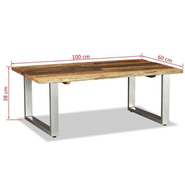klassische Knocklyon Couchtisch Recyceltes Massivholz 100x60x38 cm