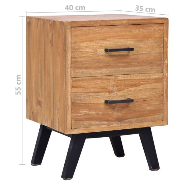 ausgezeichnete Nachttisch 40 x 35 x 55 cm Massivholz Teak Saeveland