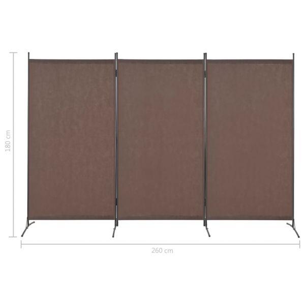 Moderner Lecco 3-tlg. Raumteiler Braun 260 x 180 cm