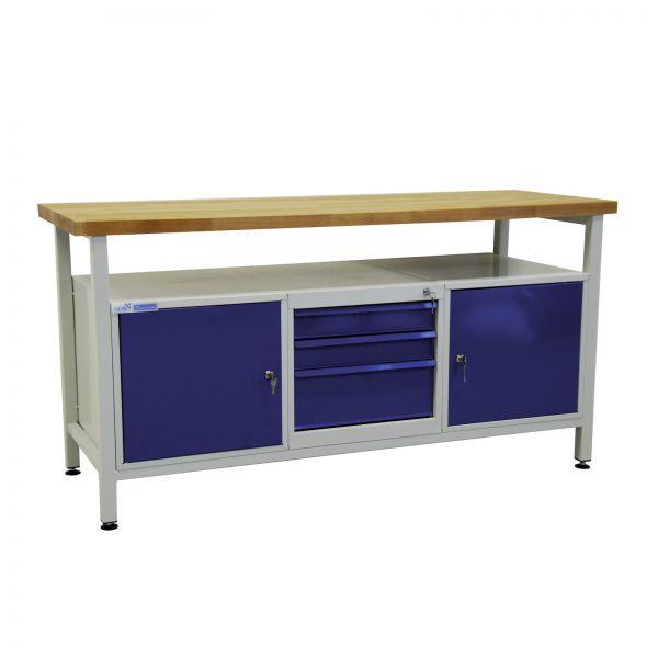 ADB Werktisch / Werkzeugtisch mit 2 Türen und 3 Schubladen