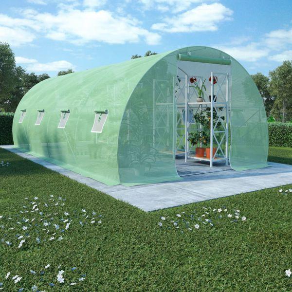 Gewächshaus mit Stahlfundament Lagerzelt 18m'² 600 x 300 x 200 cm