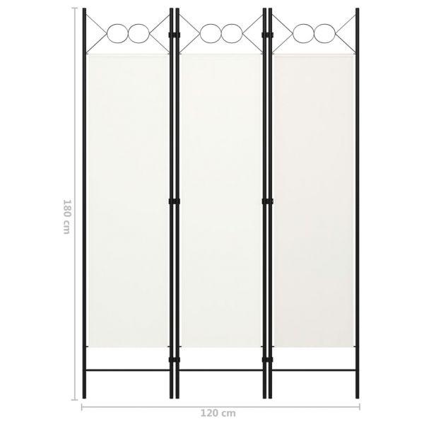 Zauberhafte Bollate 3-tlg. Raumteiler Weiß 120 x 180 cm