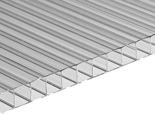 Polycarbonatplatte 10 mm Stegplatte 100 x 105 cm Transparent