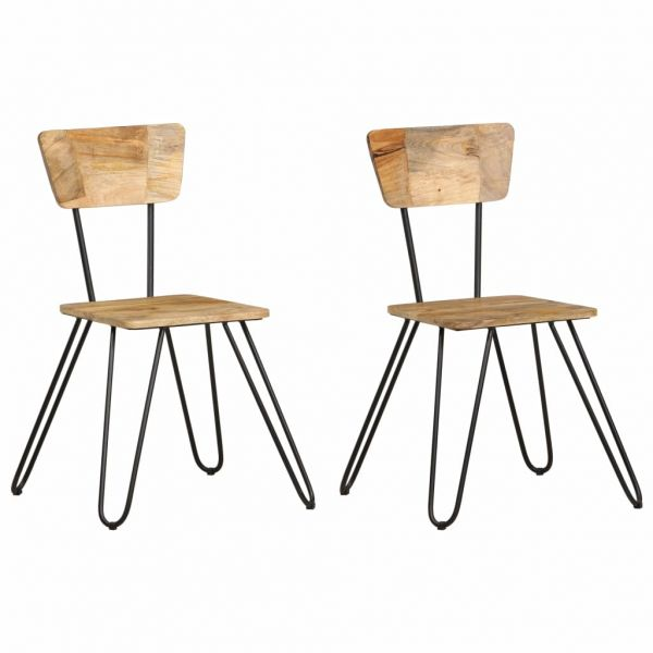 fabelhafte Esszimmerstühle 2 Stk. Massivholz Mango Pomaz