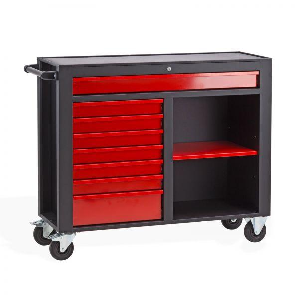 Werkstattwagen / Werkzeugwagen DW8A schwarz/rot abschließbar