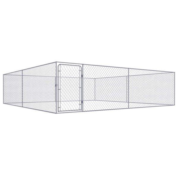Robuste Hundezwinger Verzinkter Stahl 4x4x1 m
