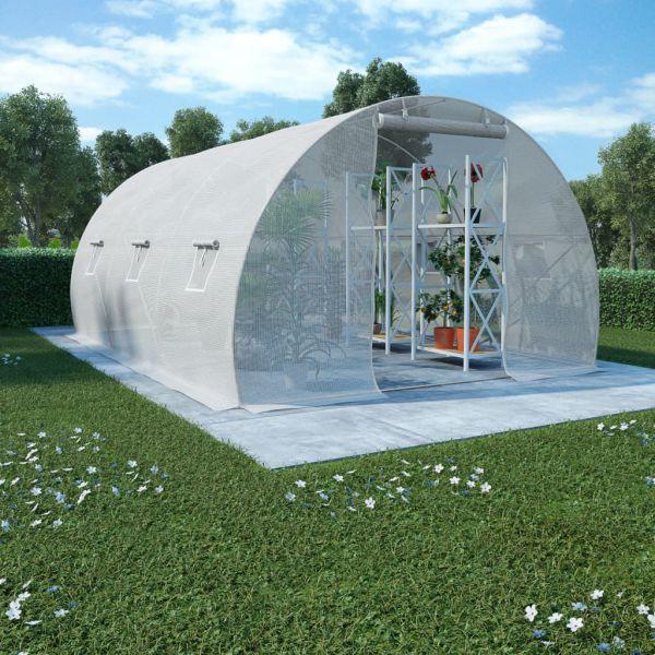 Gewächshaus mit Stahlfundament 450 x 300 cm