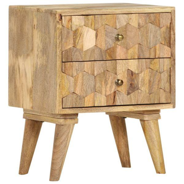 wunderschöne Nachttisch 40 x 30 x 50 cm Mango Massivholz Fetsund