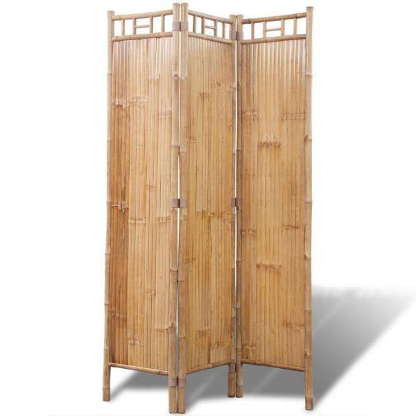 Moderner Verona Bambus Raumteiler Paravent 3-teilig
