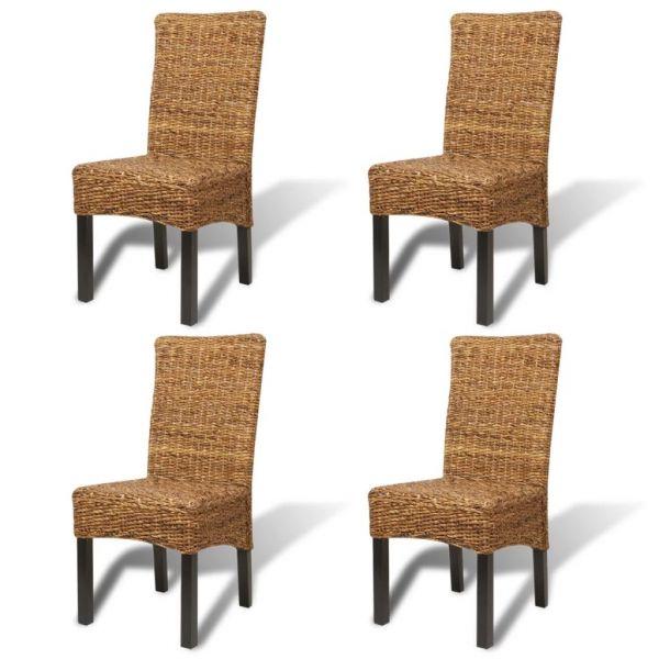 traumhafte Esszimmerstühle 4 Stk. Abaca und Mango Massivholz Komarom
