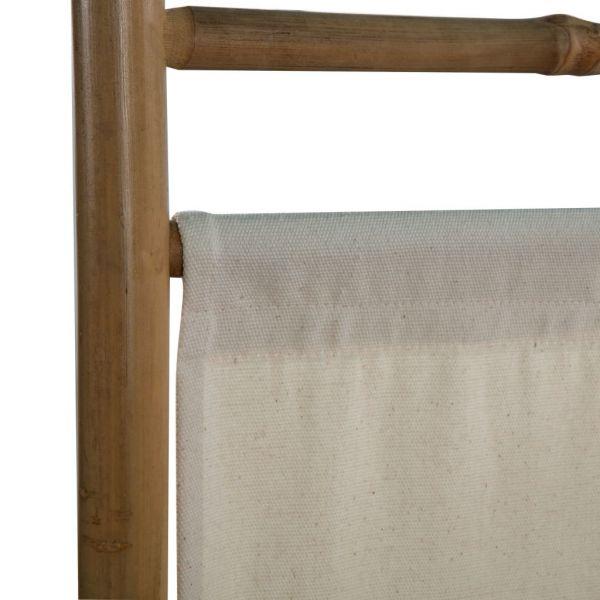 Traumhafte Termoli 4-teiliger Faltbarer Raumteiler Bambus und Leinwand 160 cm