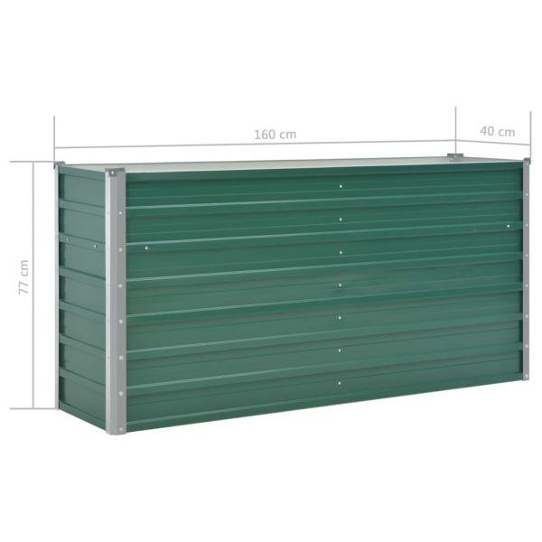 Ausgezeichnete Garten-Hochbeet Verzinkter Stahl 160x40x77 cm Grün Moe