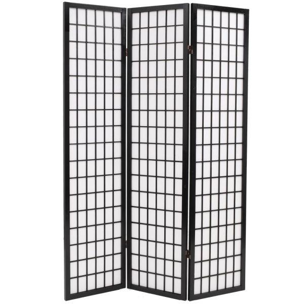 Ausgezeichnete Cesena 3tlg. Raumteiler Japanischer Stil Klappbar 120 x 170 cm Schwarz