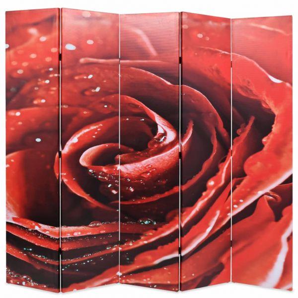 Traumhafte Busto Arsizio Raumteiler klappbar 200 x 170 cm Rose Rot