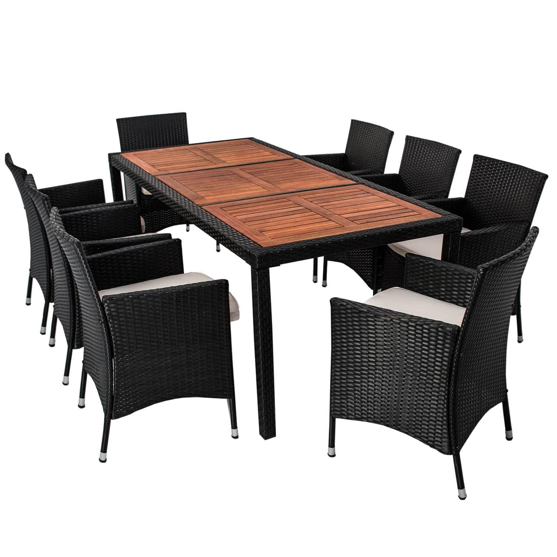 polyrattan gartenm bel sitzgruppe essgruppe garten akazienholz gartenm bel heimwerken. Black Bedroom Furniture Sets. Home Design Ideas