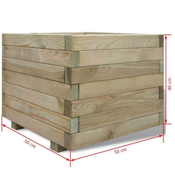 Charmante Hochbeet 50x50x40 cm Holz Quadratisch Darwin