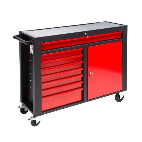 Werkstattwagen / Werkzeugwagen DW8ST schwarz/rot abschließbar