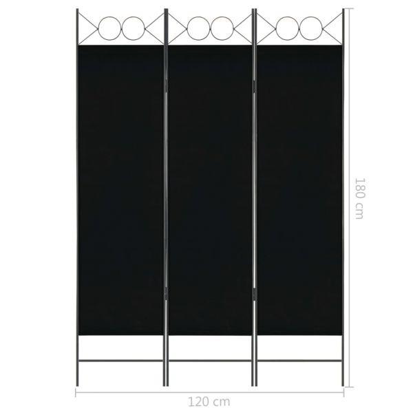 Fabelhafte San Severo 3-tlg. Raumteiler Schwarz 120 x 180 cm