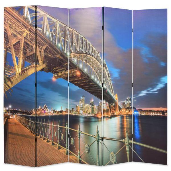 Prachtvolle Salerno Raumteiler klappbar 200 x 170 cm Sydney Harbour Bridge