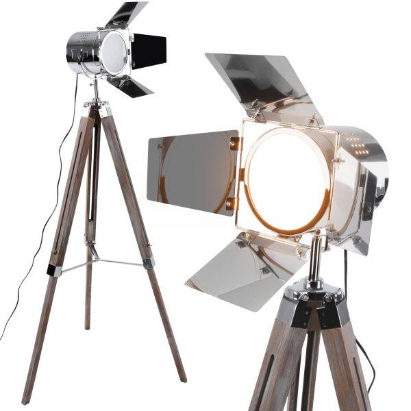Ausgezeichnete Corroios Stehlampe mit Stativ aus Holz -Vintage - Dreifuss Stehleuchte, Studiolampe -