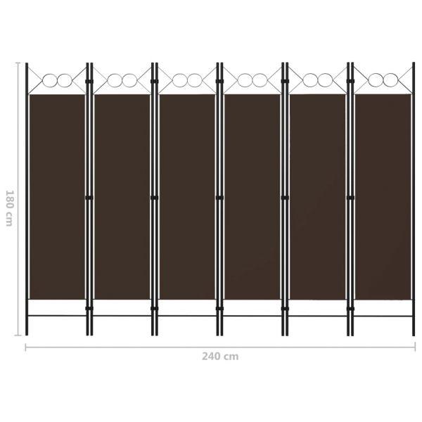 Zauberhafte Ladispoli 6-tlg. Raumteiler Braun 240 x 180 cm