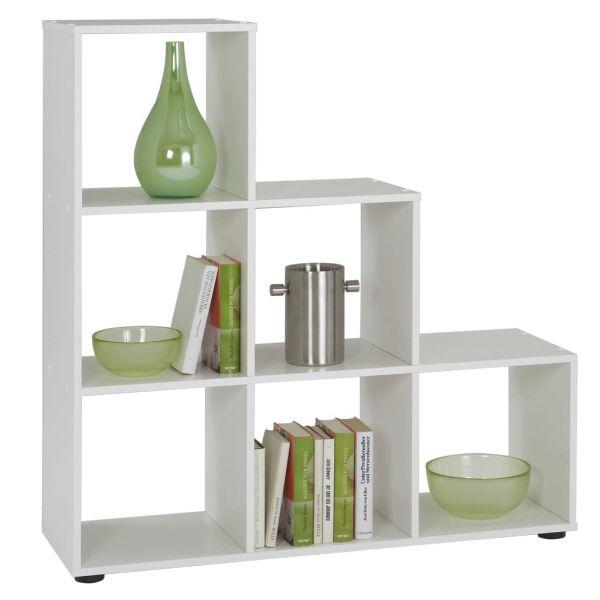 Moderner Casale Monferrato FMD Raumteiler mit 6 Fächern Weiß