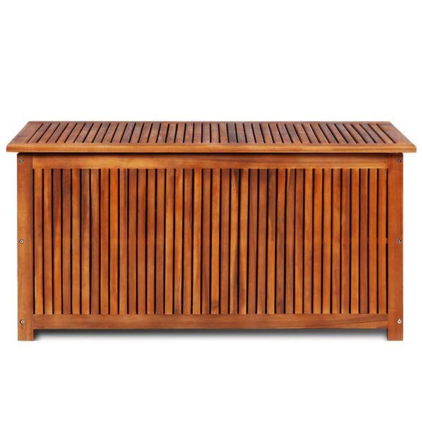 Stabile Gartenbox 117 x 50 x 58 cm Massivholz Akazie Charleroi