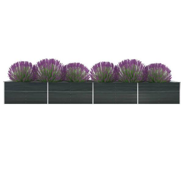 Hochwertige Garten-Hochbeet Verzinkter Stahl 600x80x45 cm Anthrazit Cooranbong