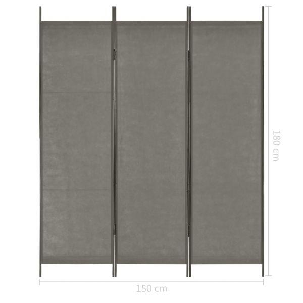 Zauberhafte Gallarate 3-tlg. Raumteiler Anthrazit 150 x 180 cm